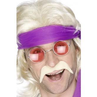 Hippie - Knír 70. léta blond