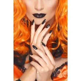 Líčení a kosmetika - Černý lak na nehty a rtěnka