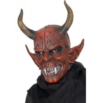 Mikuláš-Čert-Anděl - Maska Čert s velkými rohy