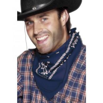 Kovbojové - Šátek na krk western modrý