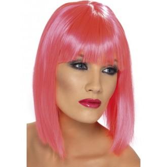 Paruky - Paruka Glam neon růžová