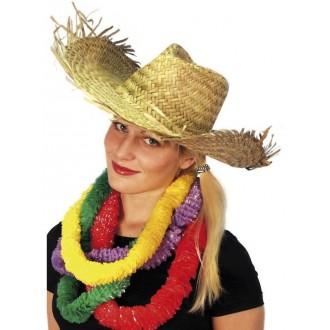 Klobouky-čepice-čelenky - Slamák Plážový havajský