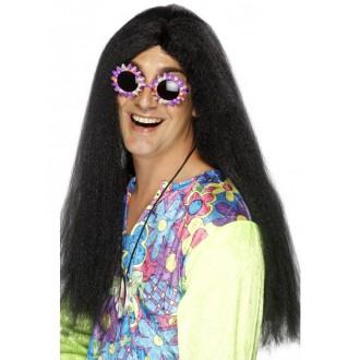 Hippie - Paruka Hippy černá