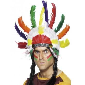 Indiáni - Indiánská čelenka Sedící býk