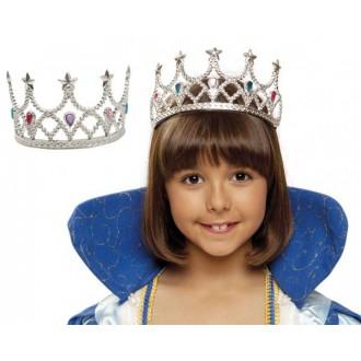 Karnevalové doplňky - Královská korunka stříbrná
