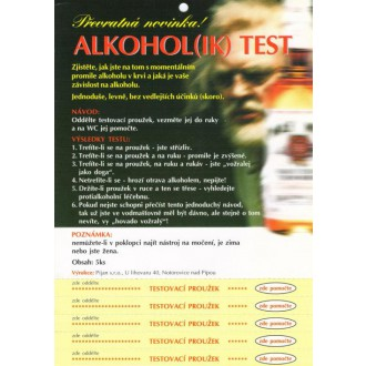 Žertíky-Ptákoviny-Dárečky-Hry - Alkohol(ik) test