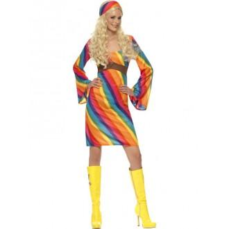 Hippie - Kostým Duhová hippiesačka