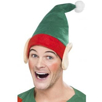 Klobouky-čepice-čelenky - Čepice Elf s ušima