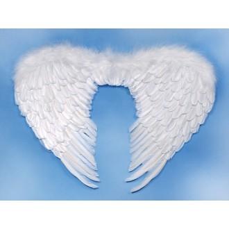 Mikuláš-Čert-Anděl - Péřová andělská křídla 80x55 cm