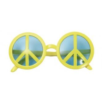 Doplňky - Brýle Peace symbol žluté