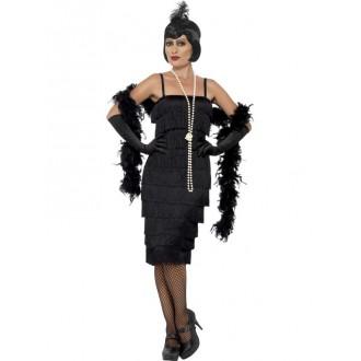 Kostýmy - Kostým Flapper dlouhé šaty černé