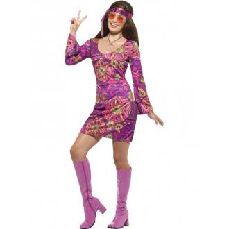 Hippie - Kostým Hippiesačka