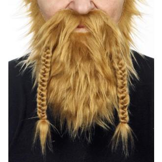 Karnevalové doplňky - Plnovous viking tmavá blond
