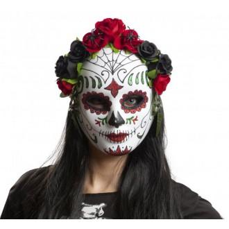 Masky - Maska obličejová Katrina s kytkami