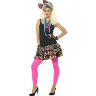 Kostýmy - Dámský kostým Šaty na party 80 léta I