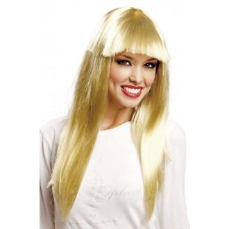 Paruky - Dámská paruka dlouhá blond s ofinou