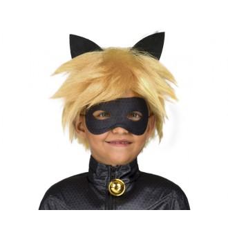 Paruky - Paruka a maska Černý kocour dětská