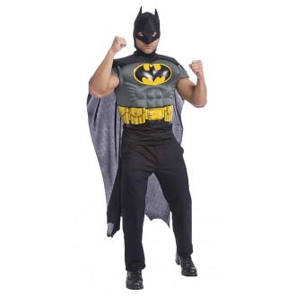 Televizní hrdinové - Kostým Batman se svaly a pláštěm + maska