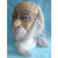 Maska čaroděj s vlasy