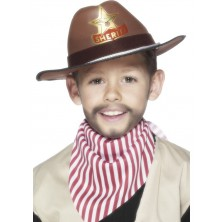 Klobouk Sheriff hnědý