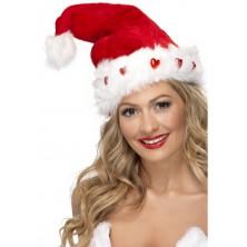 Čepice Santa srdíčka