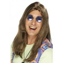 Paruka Hippie  hnědá
