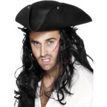 Klobouk Pirát černý I