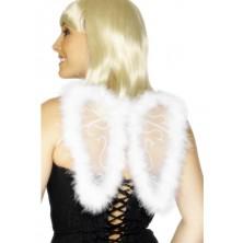 Křídla s chmýřím bílá 25x20 cm