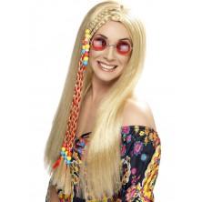 Paruka Hippy Party s copem blond