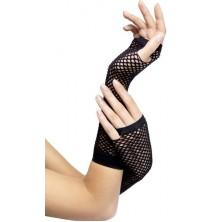 Síťované rukavice černé bez prstů I