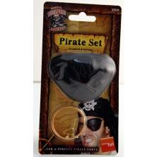 Pirátská záslepka a náušnice