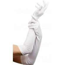 Látkové rukavice bílé 52 cm
