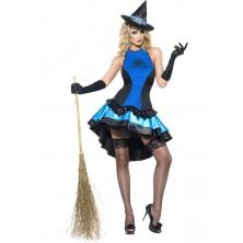 Kostým Sexy čarodějnice modrá I