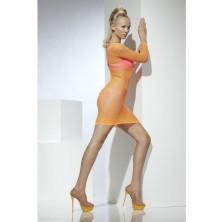 Síťované šaty oranžové