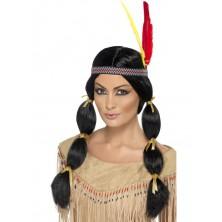 Dámská paruka Indiánka