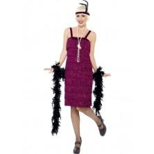 Kostým Jazz Flapper vínová