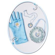 Kabelka, náhrdelník a rukavice Popelka