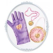 Kabelka, náhrdelník a rukavice Na vlásku