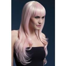 Paruka Sienna blond s nádechem růžové
