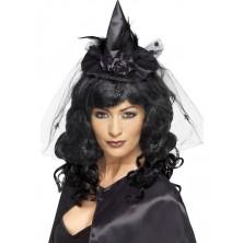 Mini klobouk Čarodějnice černý I