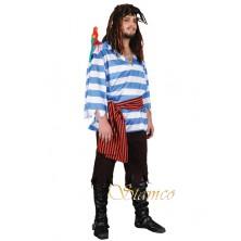 Pánský kostým Modrý pirát
