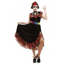 Dámský kostým Den mrtvých tanečnice