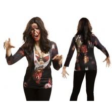 Tričko 3D Zombie girl Halloween