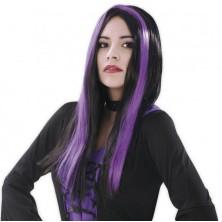 Paruka Čarodějnice-fialový melír