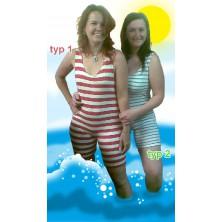 Retro plavky dámské široké pruhy (typ 1)