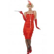 Kostým Flapper dlouhé šaty červené