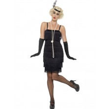 Kostým Flapper krátké šaty černé