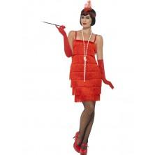 Kostým Flapper krátké šaty červené