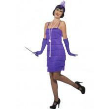 Kostým Flapper krátké šaty fialové