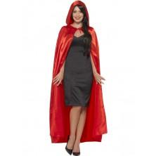 Plášť s kapucí červený pro dospělé